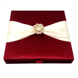 Velvet Wedding Invitation Boxes