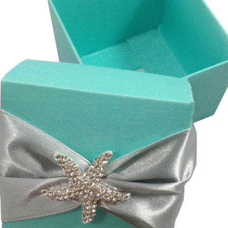 Tiffany Blue Beach Wedding Favour Box