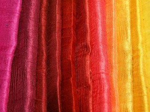Thai raw silk fabrics