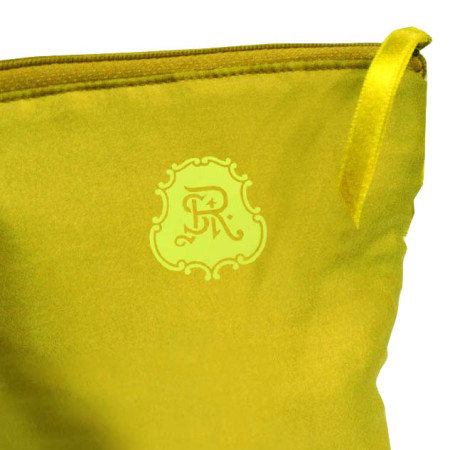 Modern lemon Green Silk Cosmetic Bag