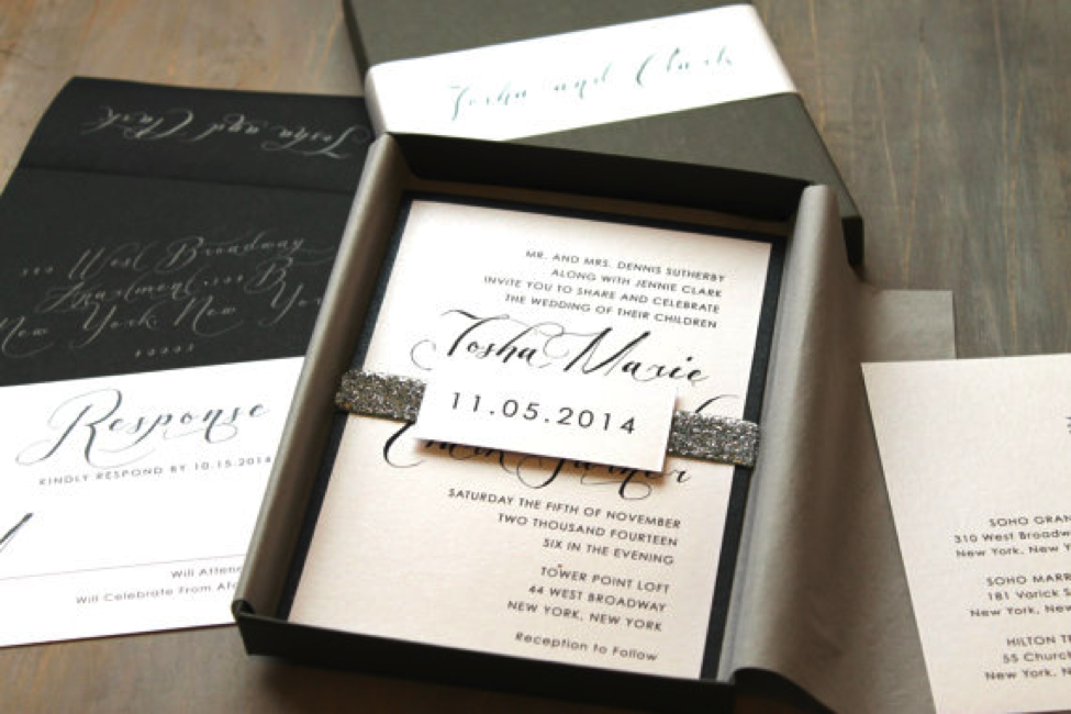 Your wedding invitation boxes protect the invitation inside