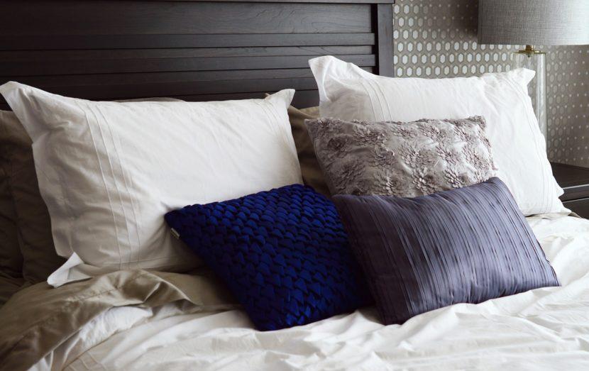 silk cushion home decoration